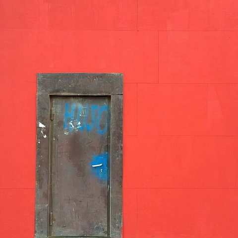 What's behind the red wall? #nofilter by Scott Joyce