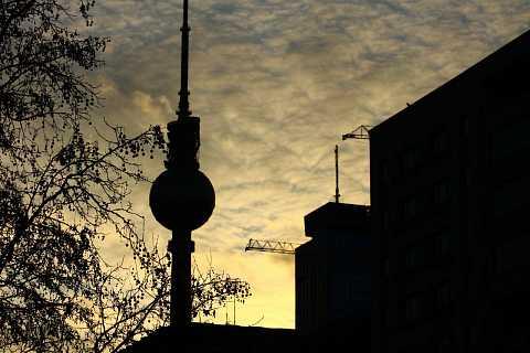 Fernsehturm silhouette by Scott Joyce
