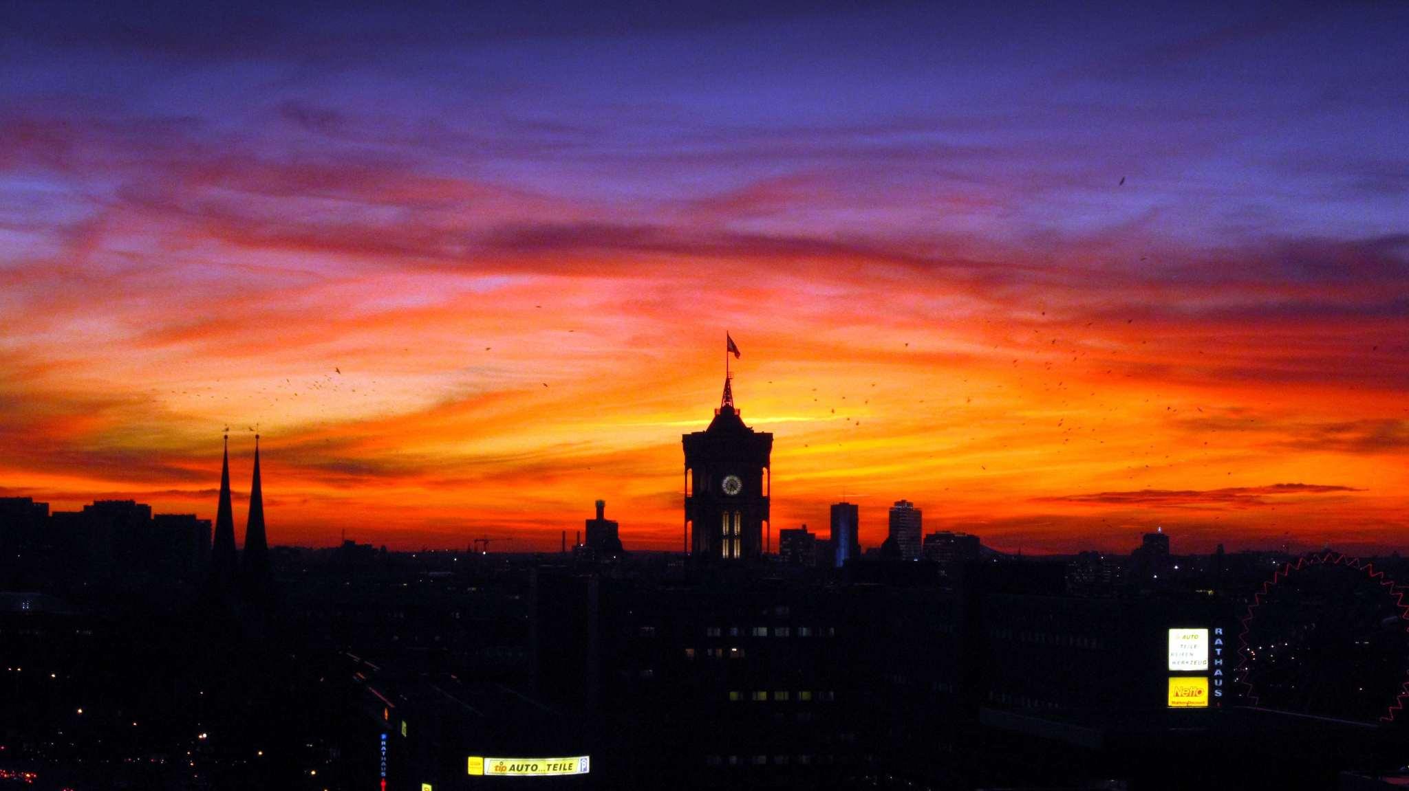 Berlin, Alexanderplatz sundown