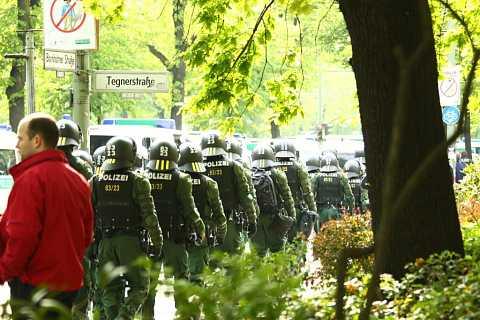 Police gathering by Scott Joyce