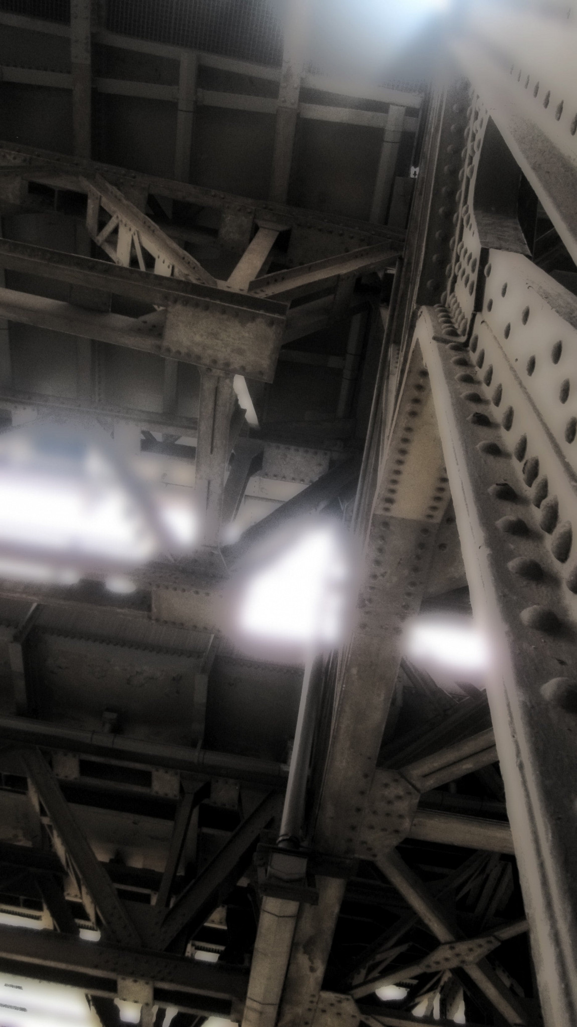 Under the tracks