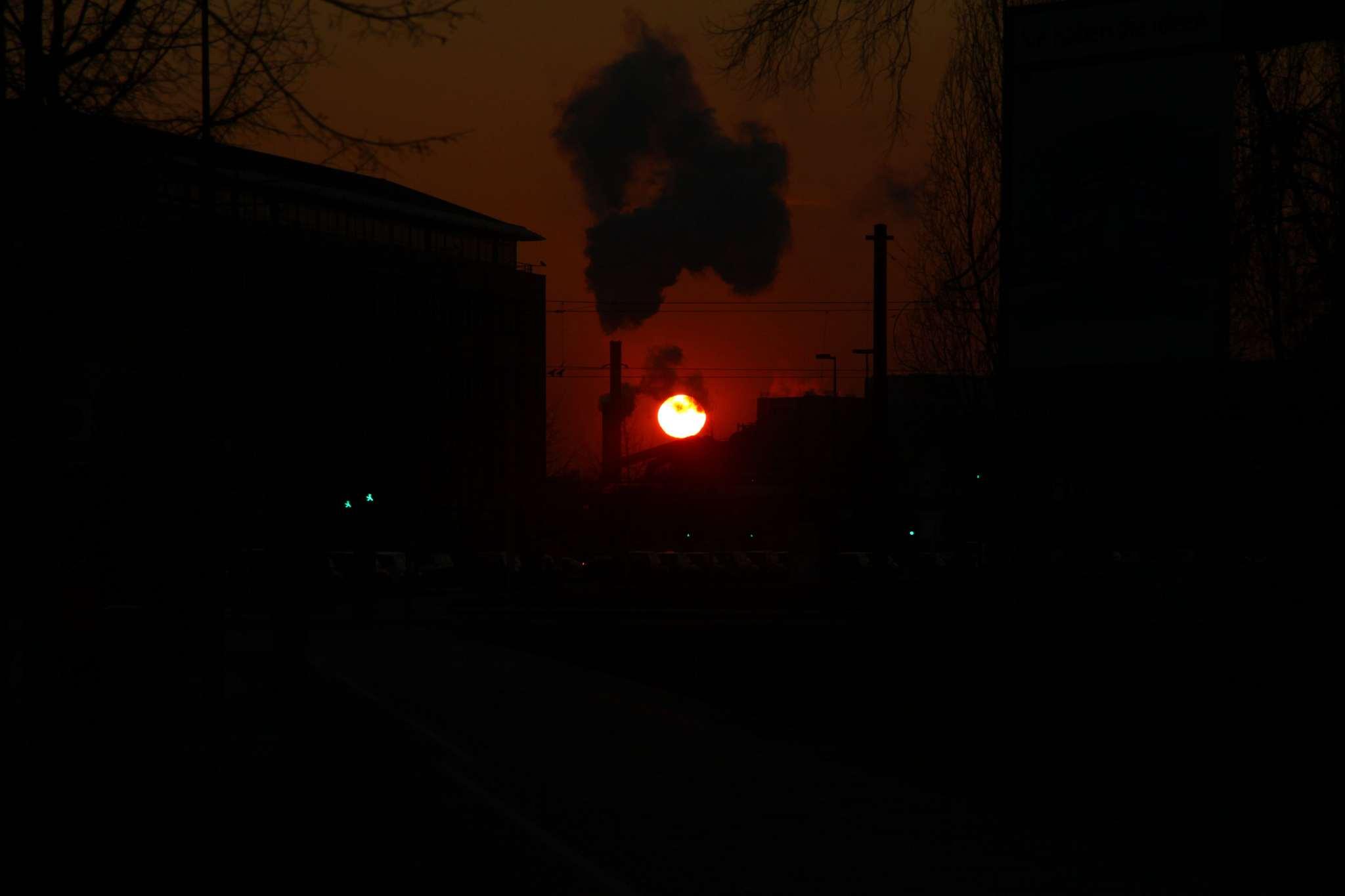 As the sun sets