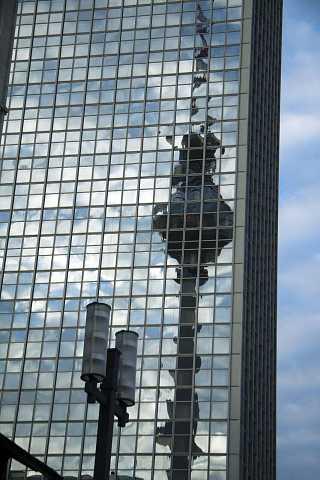 Reflecting Fernsehturm by Scott Joyce