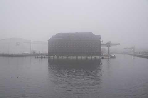 Misty warehouse by Scott Joyce