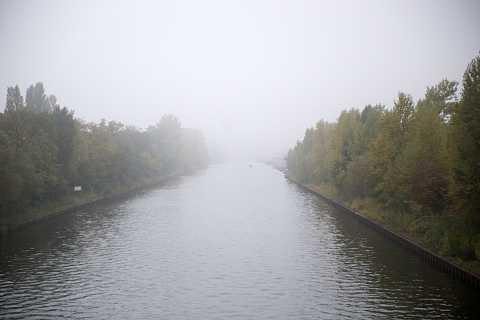 Foggy canal by Scott Joyce