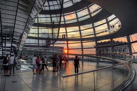Inside the Dome of the Reichstag by Scott Joyce