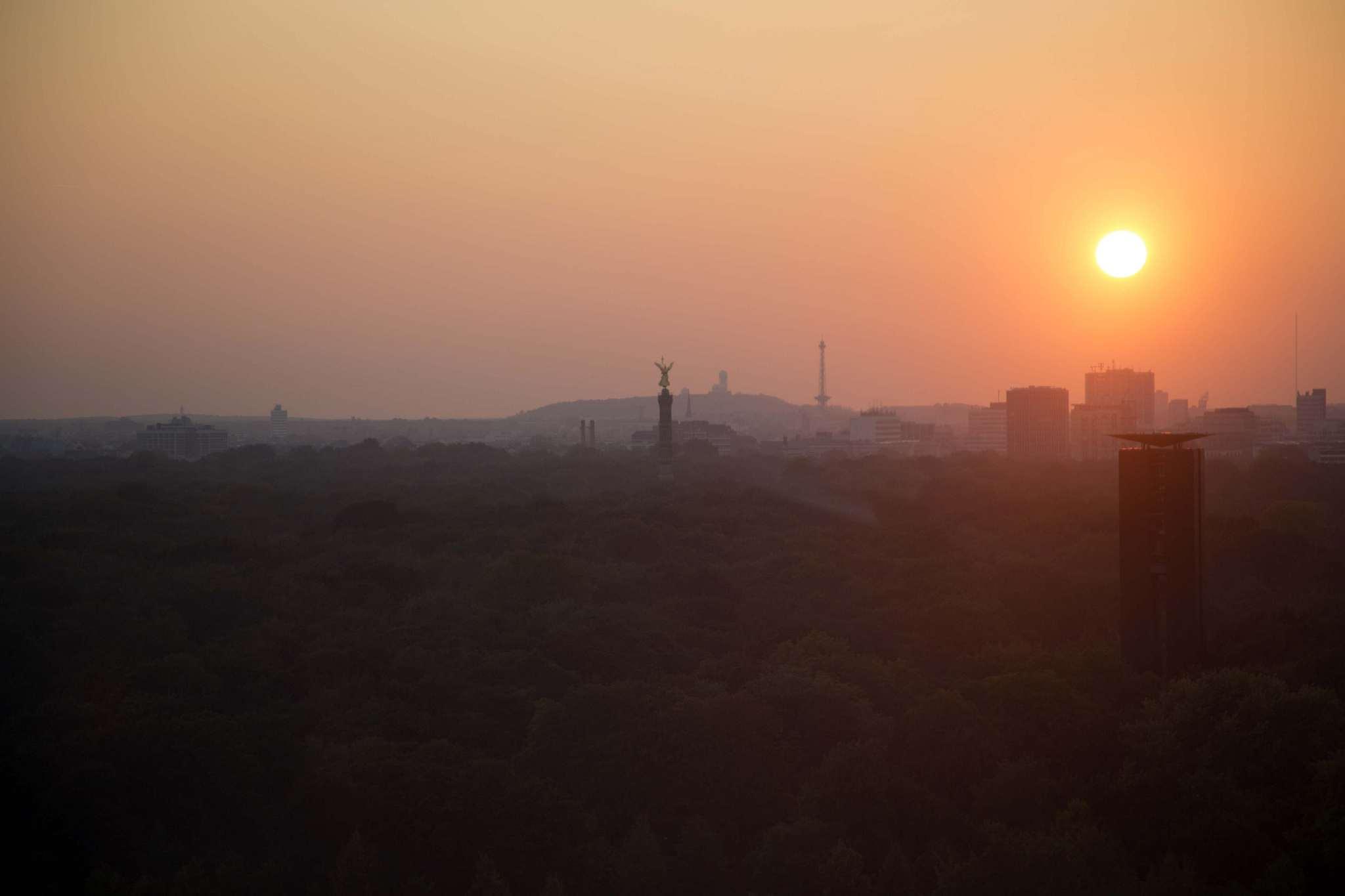 Sunset over Tiergarten