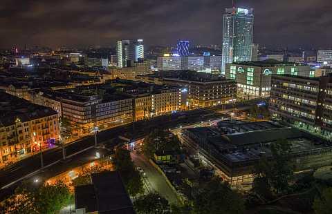 Hackescher Markt by night by Scott Joyce
