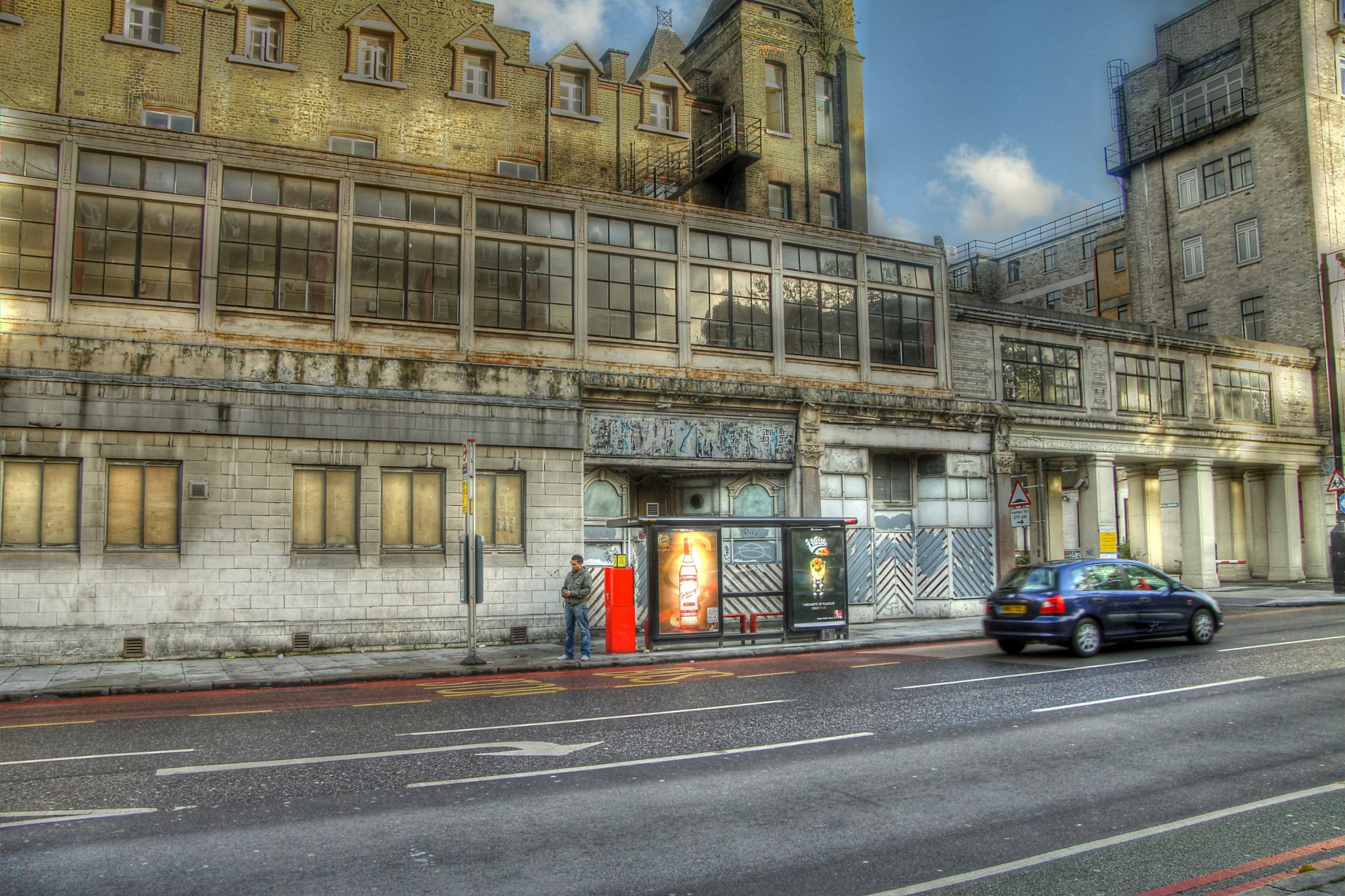 Old Abandoned building in Euston, London. HDR