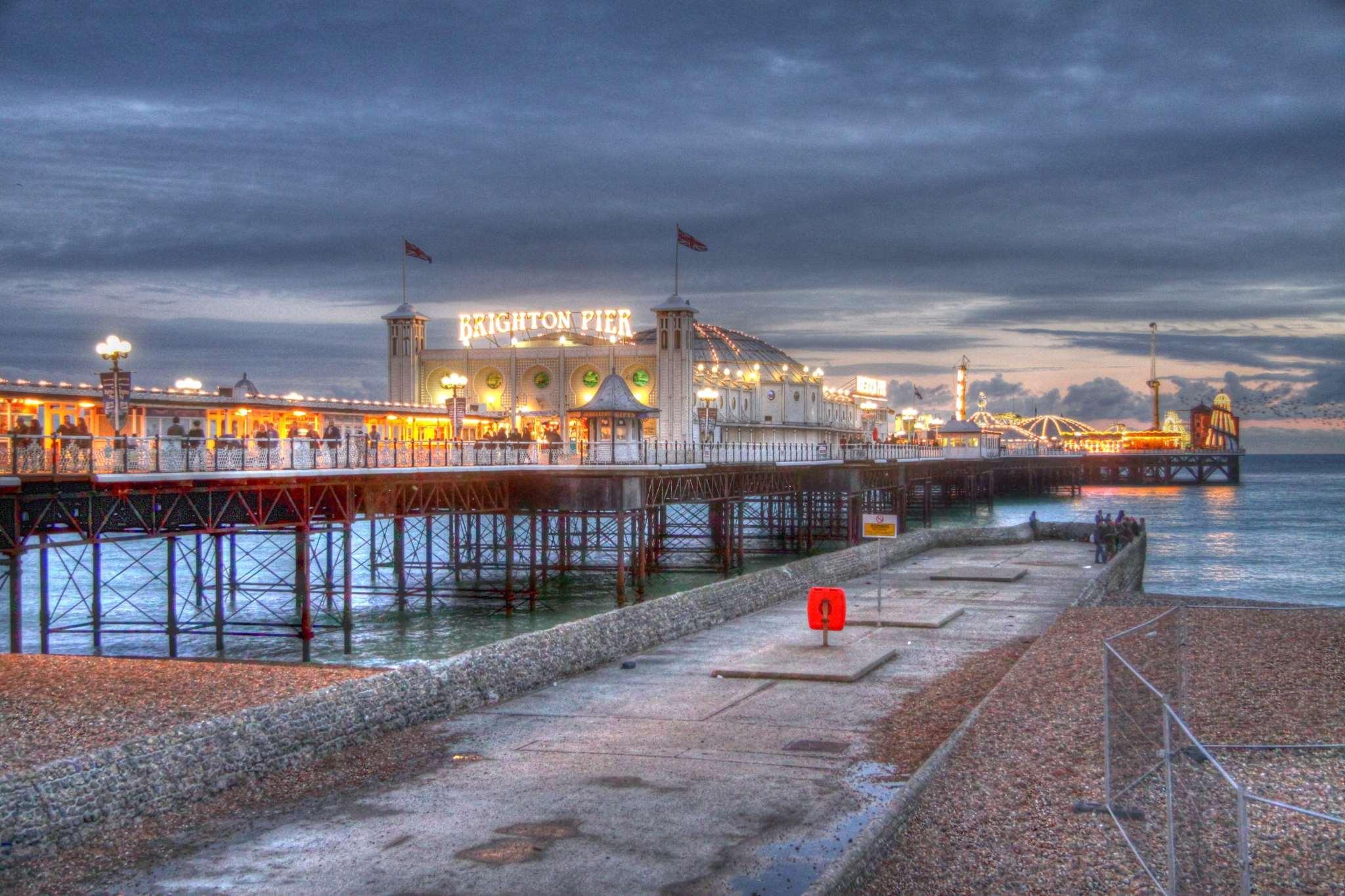 Brighton Pier, Brighton, England. HDR.