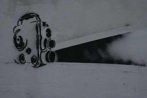 Black light projection by Scott Joyce