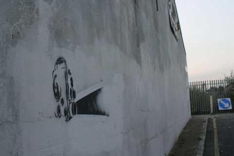 Filming on the wall by Scott Joyce