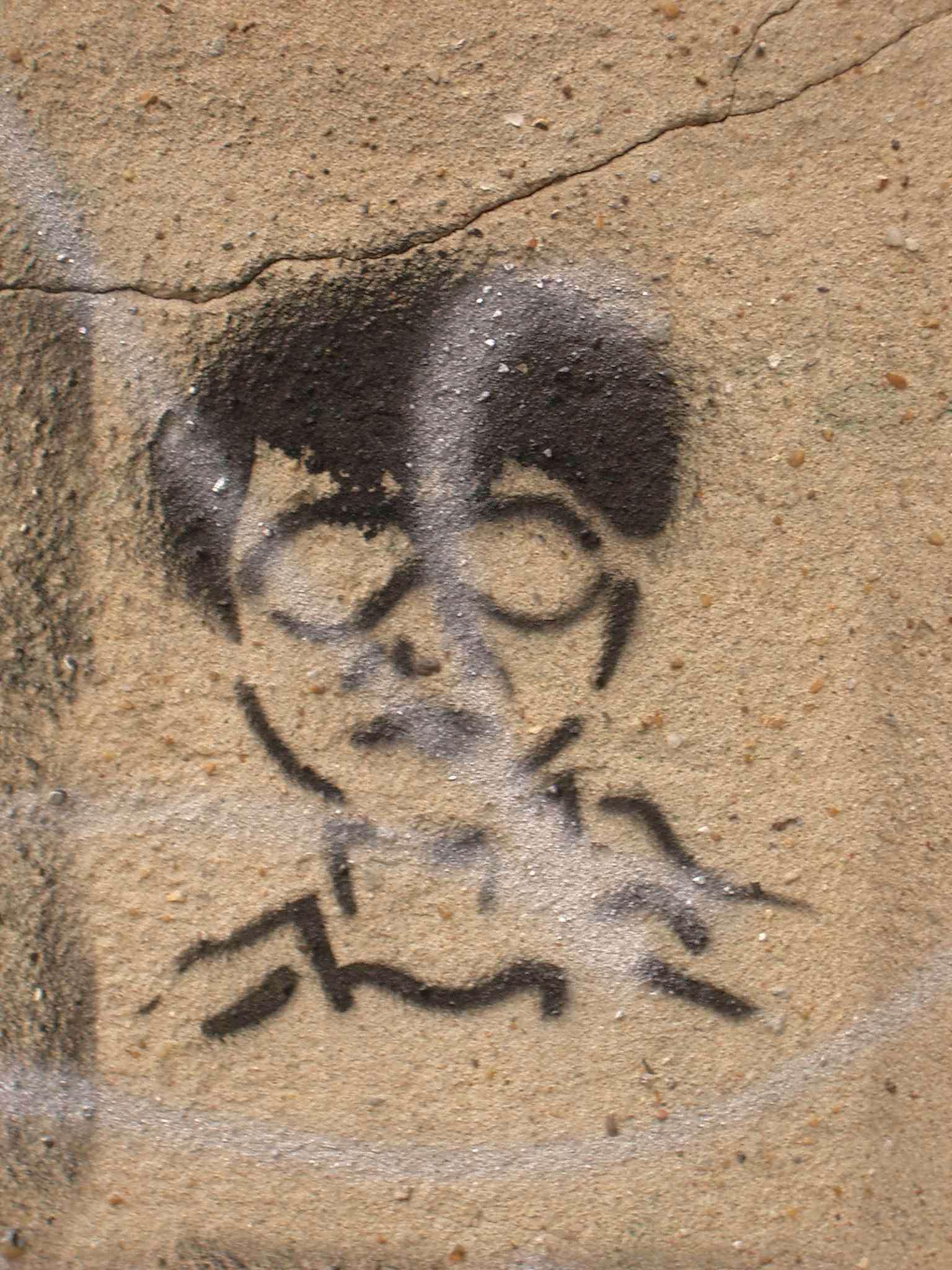 Stencil person