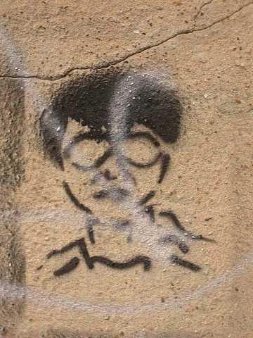 Stencil person by Scott Joyce