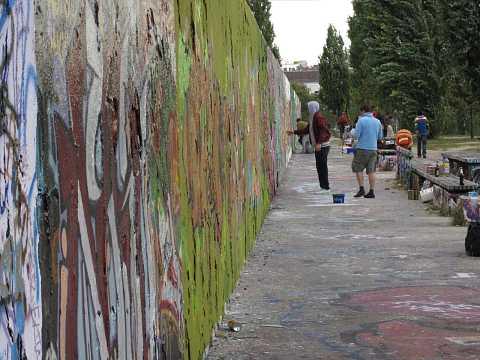 Mauerpark tagging by Scott Joyce