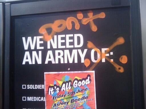 We don't need an army.