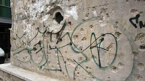 Bunker graffiti by Scott Joyce