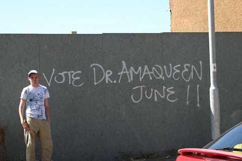 Vote Dr.Amaqueen! by Scott Joyce