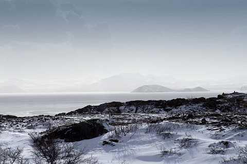Mountains in the mist. by Scott Joyce