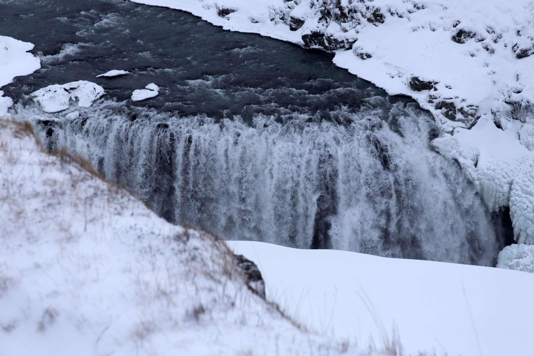Waterfall at Gullfoss.
