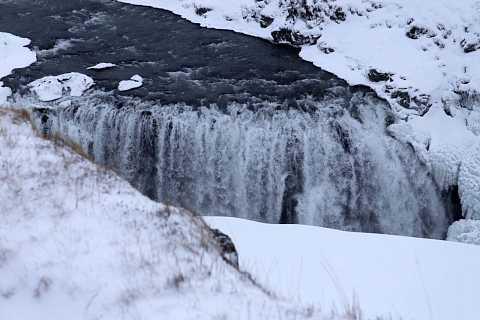 Waterfall at Gullfoss. by Scott Joyce