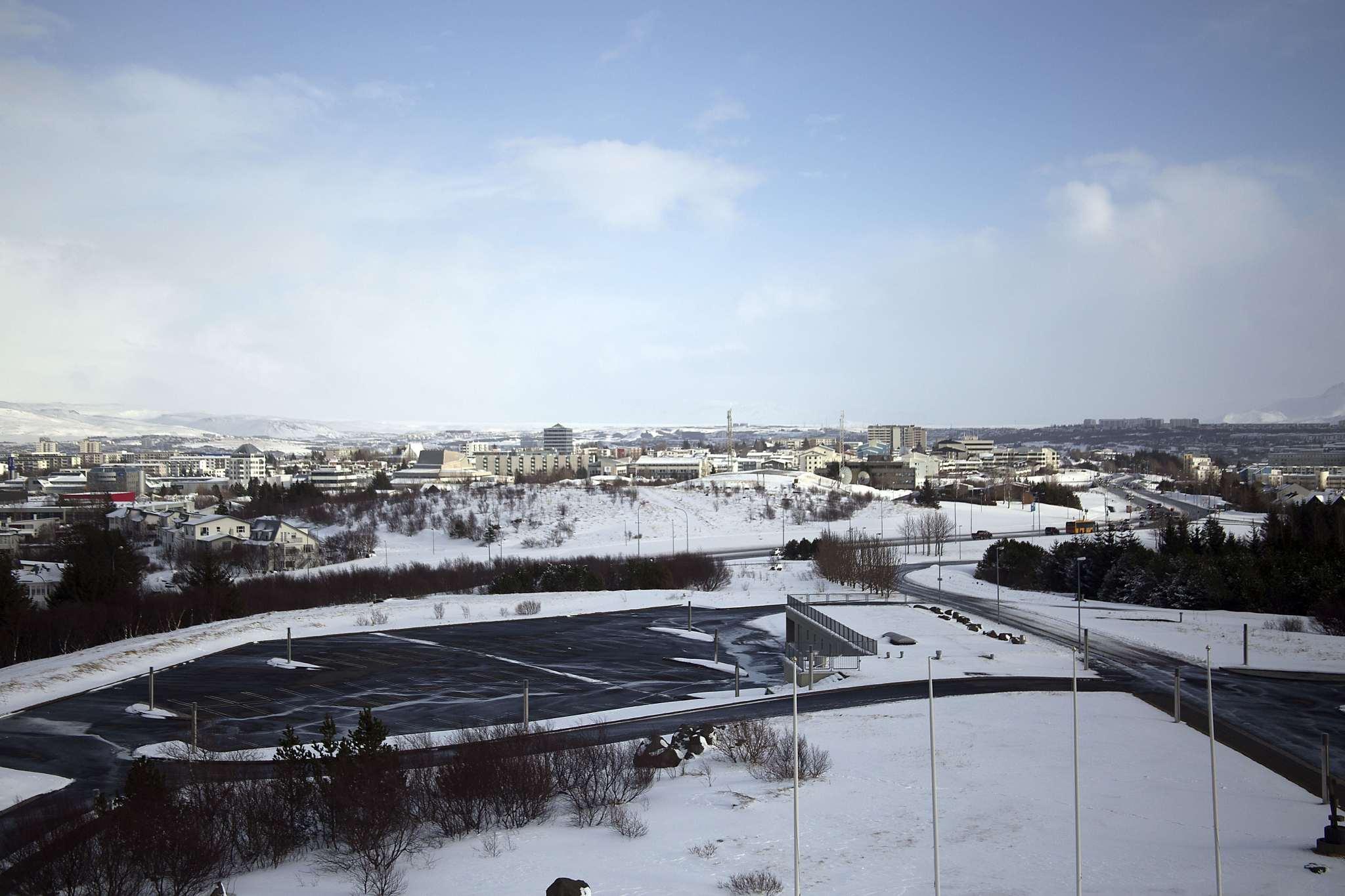 Looking out over Reykjavík