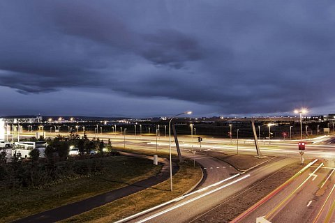 Long exposure over Reykjavik by Scott Joyce