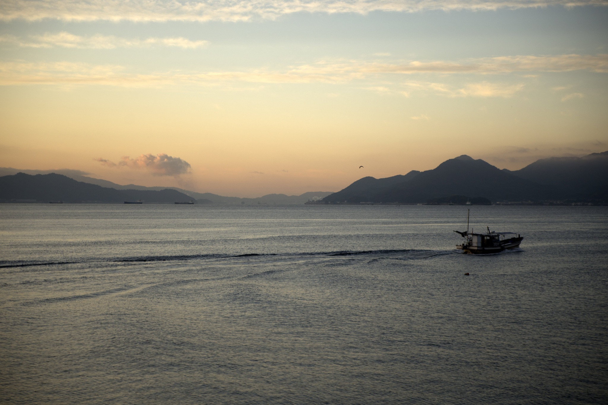 Sunrise fishing boat, Hiroshima