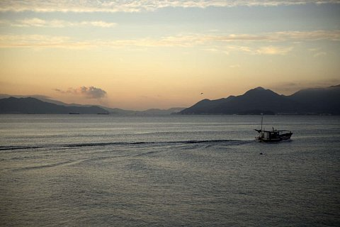 Sunrise fishing boat, Hiroshima by Scott Joyce