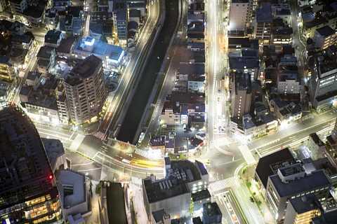 Tokyo streets at night by Scott Joyce