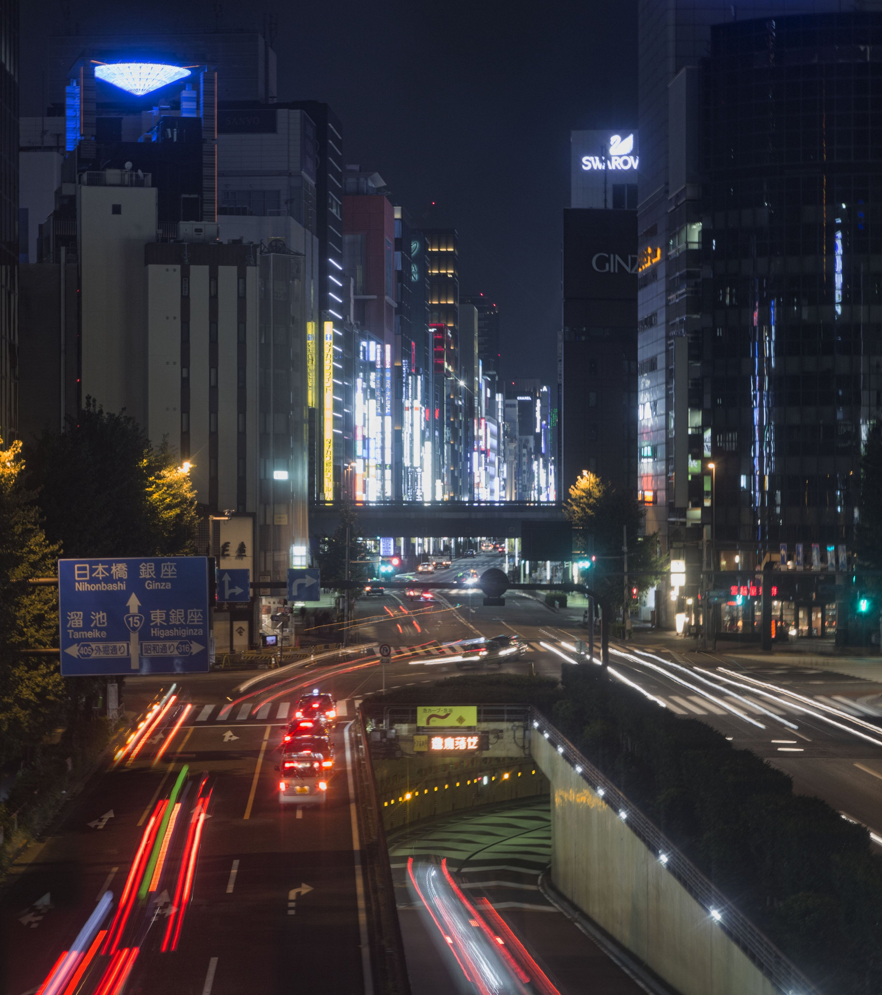 Long exposure looking out over Tokyo
