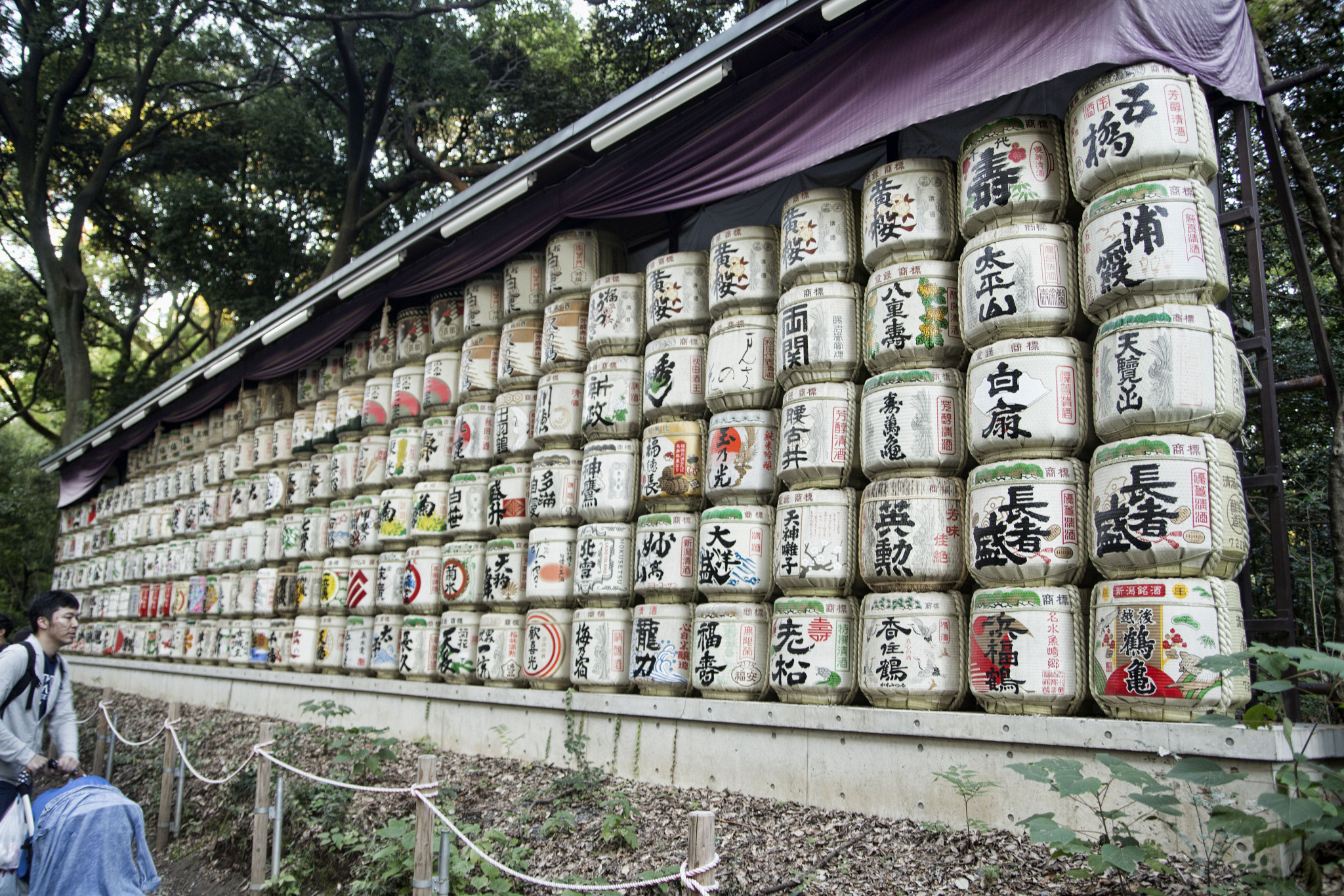 Sake Barrels offered to the Emperor and his consort.