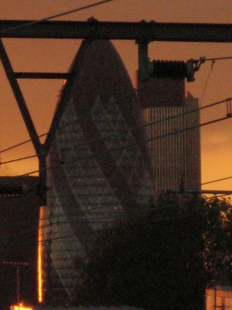 Gherkin at sundown