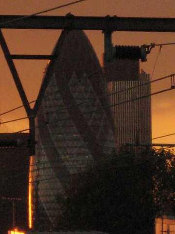 Gherkin at sundown by Scott Joyce