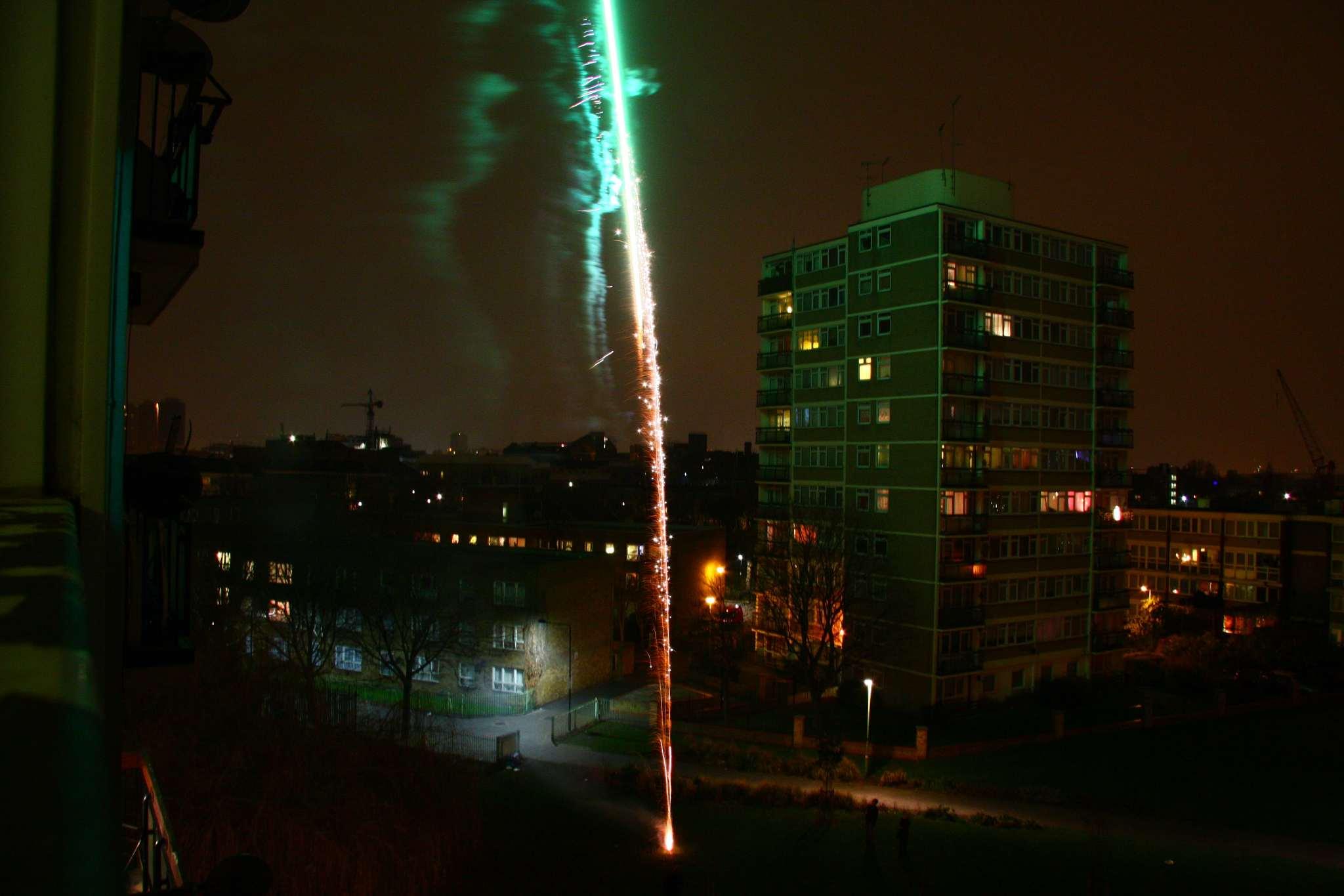 Fireworks over Poplar