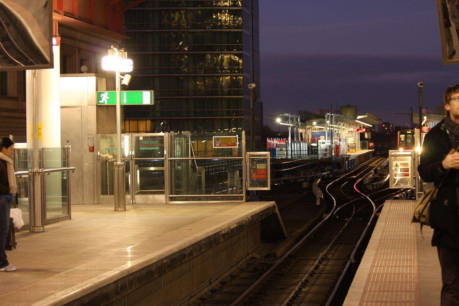 Platform by night