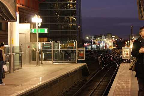 Platform by night by Scott Joyce