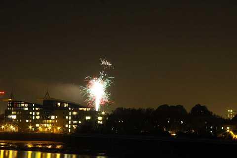Fireworks on the River by Scott Joyce