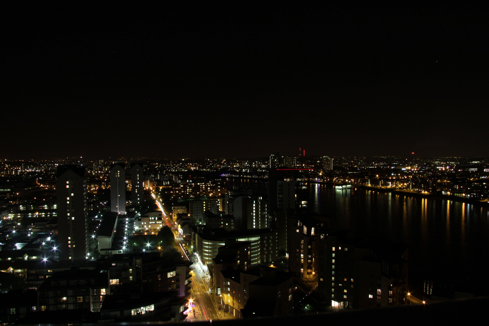 Night over the Thames