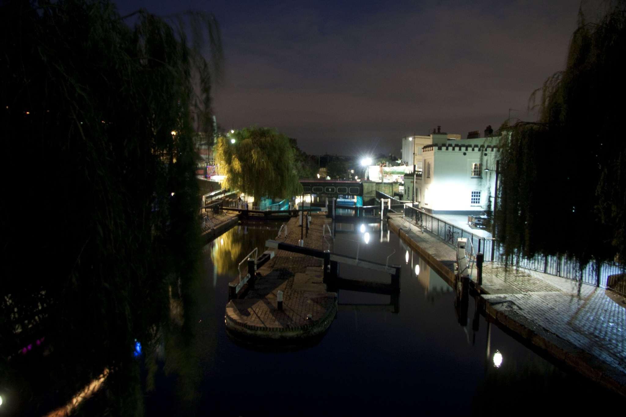 Camden Lock by night