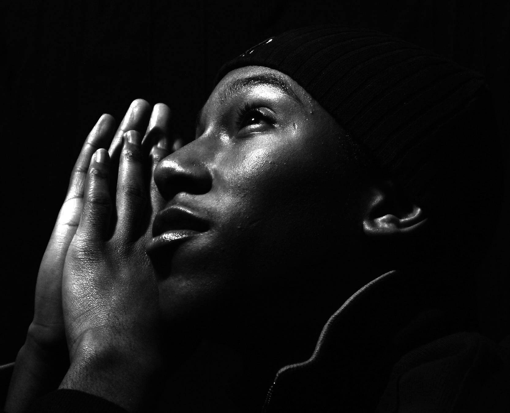 Black and white prayer
