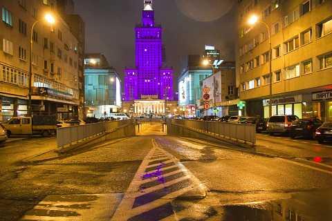 Looking down towards Pałac Kultury i Nauki by Scott Joyce