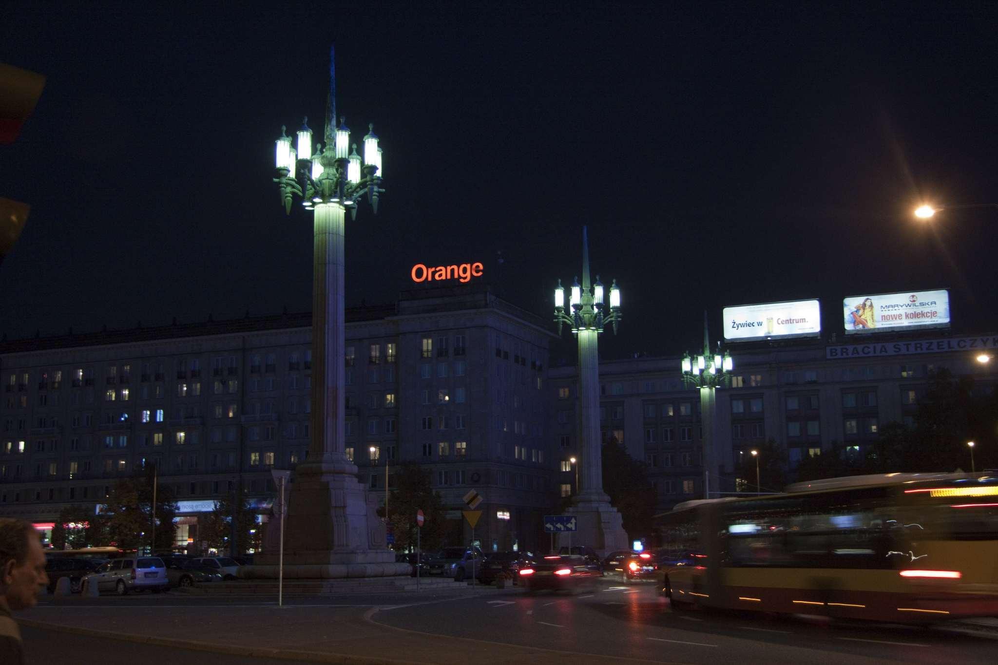 Giant streetlights