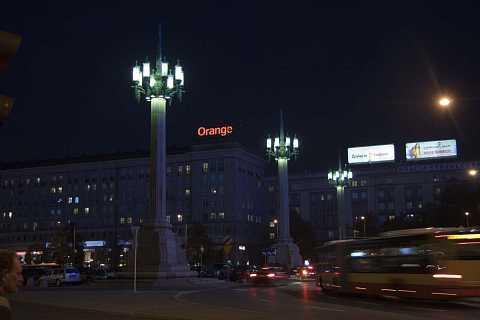 Giant streetlights by Scott Joyce