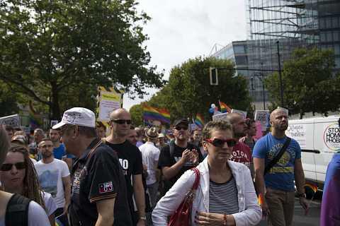 Berlin Putin/Russian anti gay law demo. Sat 31st August 2013