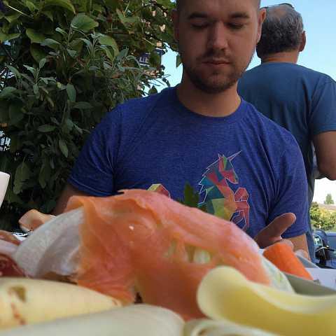 Praying to the salmon mountain #berlin by Scott Joyce