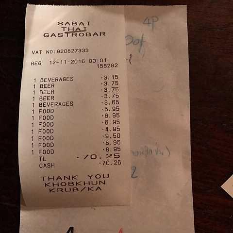 Least helpful receipt ever. ^^ by Scott Joyce