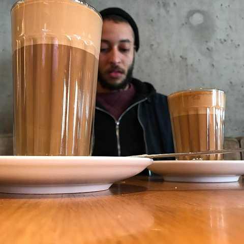 My coffee is bigger than @stickinsectbob by Scott Joyce