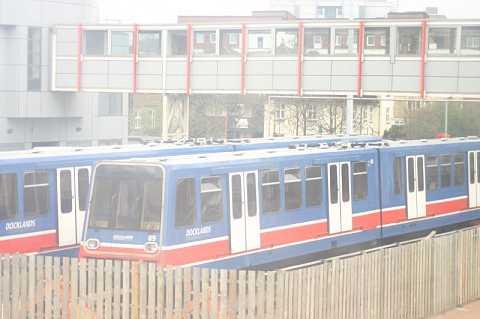 DLR trains sleeping by Scott Joyce