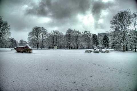 Tiergarten ice by Scott Joyce